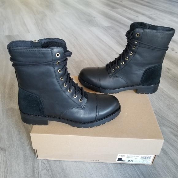 7b1cda73e56 NEW UGG Kilmer Exposed Fur Water-resistant Boot. NWT